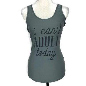 """NOBO Tops - NOBO """"I can't adult today"""" Graphic Tank Top"""